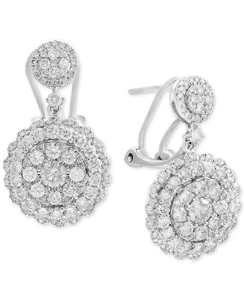 EFFY Collection Rock Candy by EFFY® Diamond Cluster Drop Earrings (2-1/10 ct. t.w.) in 14k White, Rose, or Yellow Gold