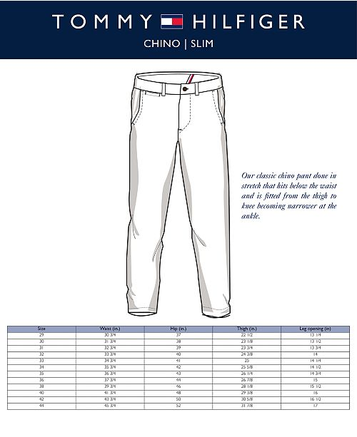 07ad4ec636 Tommy Hilfiger Men's TH Flex Stretch Slim-Fit Chino Pants, Created for  Macy's ...