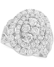 Rock Candy by EFFY® Diamond Oval Cluster Ring (3-1/2 ct. t.w. in 14k White Gold