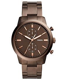 Fossil Men's Chronograph Townsman Brown Stainless Steel Bracelet Watch 44mm
