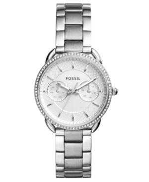 FOSSIL Women'S Tailor Stainless Steel Bracelet Watch 35Mm in Silver