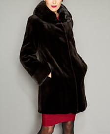 The Fur Vault Sheared Mink Fur Reversible Coat