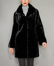 The Fur Vault Mink Fur Reversible Coat