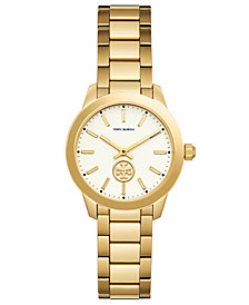 Tory Burch Women's Collins Gold-Tone Stainless Steel Bracelet Watch 32mm