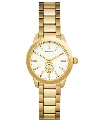 Tory Burch Women's Collins Gold-Tone Stainless Steel Bracelet Watch 32mm