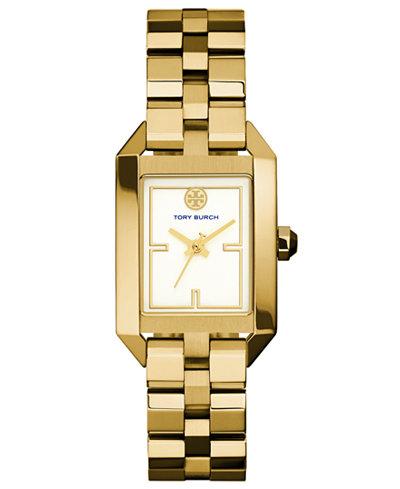 Tory Burch Women's Dalloway Gold-Tone Stainless Steel Bracelet Watch 23x37mm