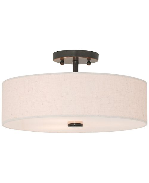 Livex Meridian Semi Flush Light