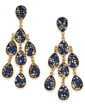 INC International Concepts Gold-Tone Beaded Teardrop Chandelier Earrings, Created for Macy's