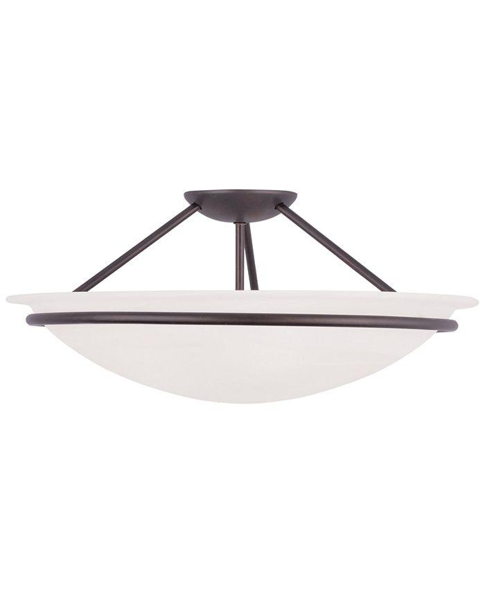Livex - Newburgh Semi Flush Light