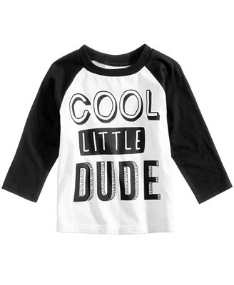 First Impressions Cool Dude-Print Cotton T-Shirt, Baby Boys (0-24 ...
