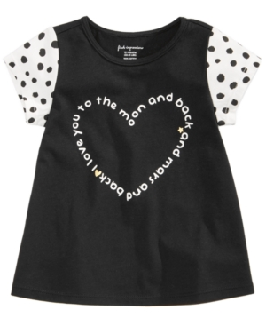 First Impressions HeartPrint Cotton TShirt Baby Girls (024 months) Created for Macys