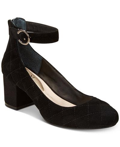 Alfani Women's Step 'N Flex Ashiaa Ankle-Strap Pumps, Created for Macy's