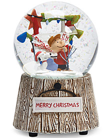 Roman Charlie Brown & Snoopy Musical Snow Globe