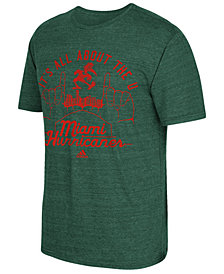 adidas Men's Miami Hurricanes Traditional Tri-Blend T-Shirt