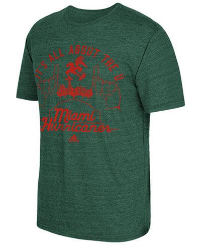 adidas Men's Miami Hurricanes Traditional Tri-Blend T-Shirt