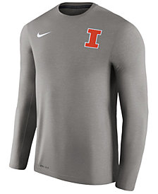 Nike Men's Illinois Fighting Illini Dri-Fit Touch Longsleeve T-Shirt