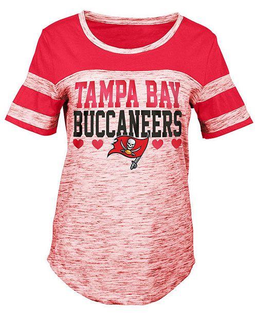 35c10662d7b05 5th   Ocean. Tampa Bay Buccaneers Space Dye Foil Heart T-Shirt