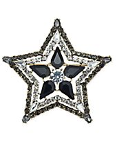 Anna Sui x INC International Concepts Silver-Tone Stone & Crystal Star Pin, Created for Macy's