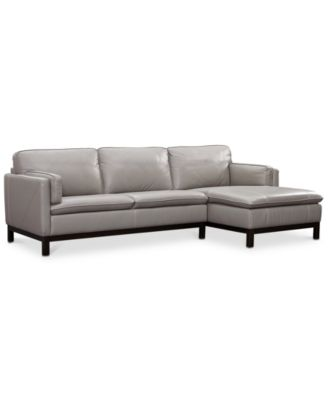Furniture CLOSEOUT! Ventroso 2 Pc. Leather Chaise Sectional Sofa, Created  For Macyu0027s   Furniture   Macyu0027s