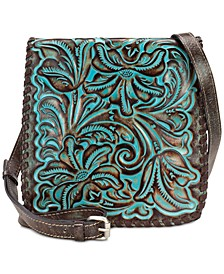 Granada Turquoise Tooled Leather Crossbody