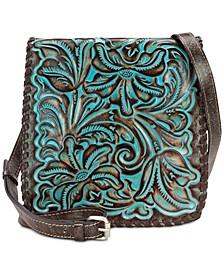 Granada Turquoise Tooled Leather Crossbody