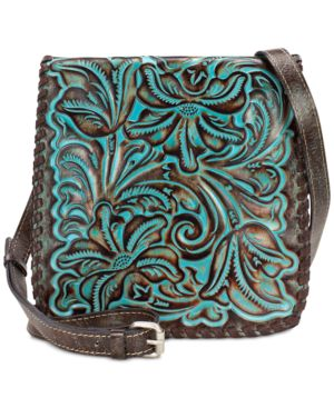 Patricia Nash Turquoise Tooled Granada Crossbody 4755619