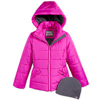 Hawke & Co. Outfitter Isabel Hooded Puffer Jacket with Hat (Magenta Glow)