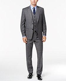 Lauren Ralph Lauren Men's Slim-Fit Ultraflex Gray Glen Plaid Flannel Vested Suit