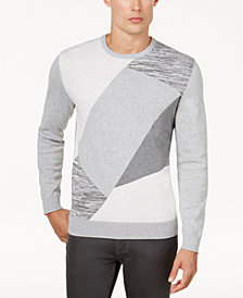 Alfani Men's Angled Colorblocked Sweater, Created for Macy's