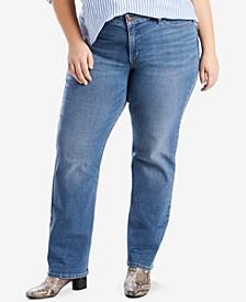 Trendy Petite Plus Size  414 Classic Straight-Leg Jeans