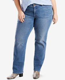 Levi's® Trendy Plus Size  414 Classic Straight-Leg Jeans