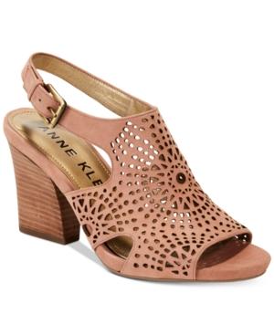 Anne Klein Briella Block-Heel Sandals