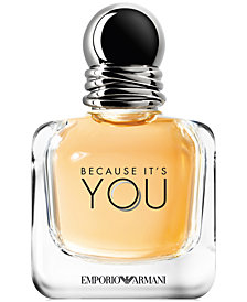 Receive a Complimentary Deluxe Mini of Emporio Armani Because It's You with any large spray purchase from the Armani women's fragrance collection