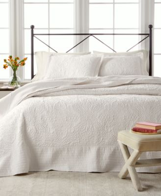 martha stewart collection lush embroidery king bedspread created for macyu0027s - Bedspreads King Size