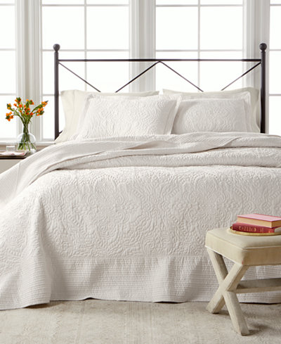 Martha Stewart Collection Lush Embroidery Bedspread Amp Sham