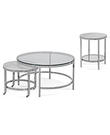 Volko Round Table Collection, 2-Pc. Set (Round Coffee Nesting Table & Round End Table)