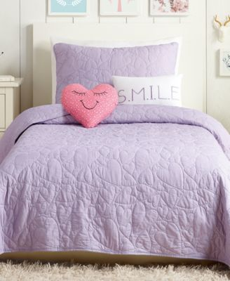 Heart 4-Pc. Twin Quilt Set