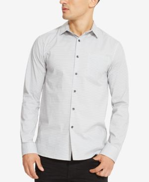 Kenneth Cole Reaction Men's French Front Dash-Pattern Shirt thumbnail