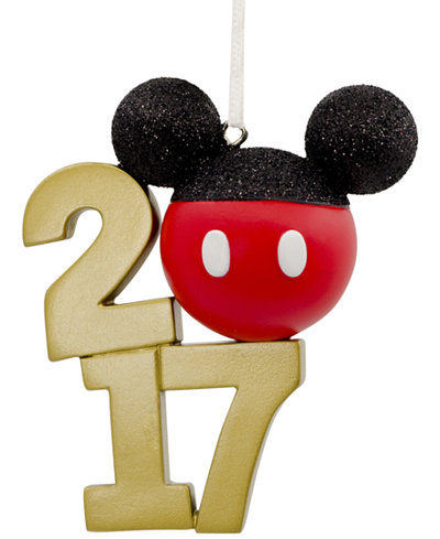 Hallmark Resin Figural Dated Stacked Mickey Icon Ornament