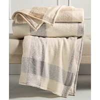 Martha Stewart Collection Faux Mohair Tonal Check Throw 60x50 Deals
