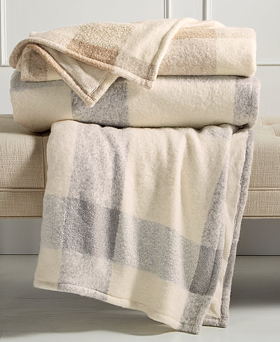 Martha Collection Faux Mohair Tonal Check Throw Created For Macy S