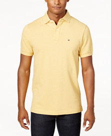 Tommy Hilfiger Men's Classic-Fit Ivy Polo (Golden Rod Heather)
