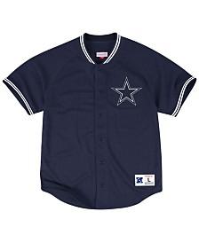 Mitchell & Ness Men's Dallas Cowboys Seasoned Pro Mesh Button Front 2.0Shirt