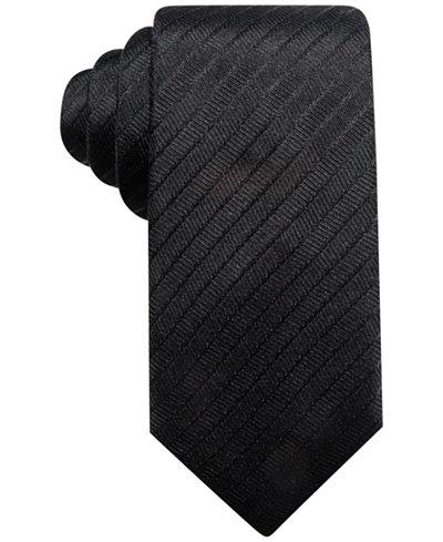 Alfani Men's Stripe Silk Slim Tie, Created for Macy's
