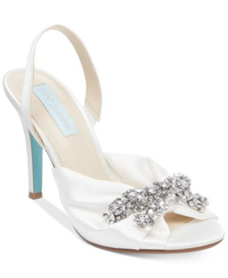 Blue By Betsey Johnson Briel Evening Slingback Pumps