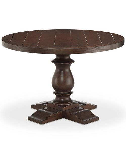 carriage & co. Cali Round Dining Table, Quick Ship