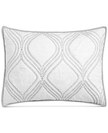 Martha Stewart Collection Gramercy Gate Quilted Standard Sham, Created for Macy's