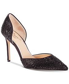 Alexandra Embelished Pointed-Toe Evening Pumps