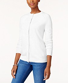 Imitation Pearl-Button Cardigan, Created for Macy's