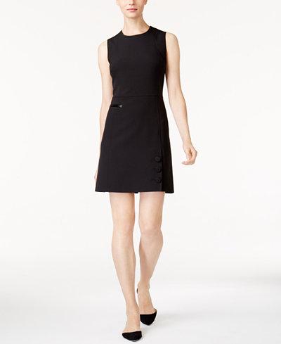Anne Klein Button-Detail Dress